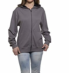 Clifton Womens Sweat Shirt With Hood-Steel Grey-5XL
