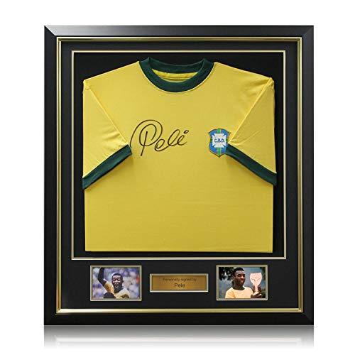 Pele Signiert Brasilien 1970 Jersey, Luxus eingerahmt -