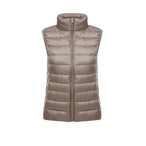 O&N Damen Daunenweste Winterjacke leicht duenn Daunen Weste Aermellos Ladies' Down Vest