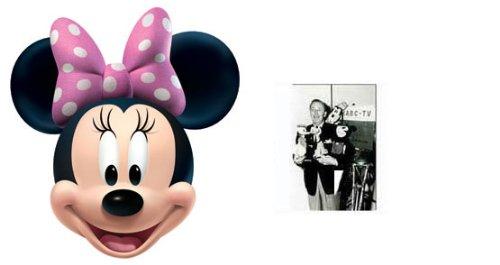 Minnie Mouse Karte Partei Gesichtsmasken (Maske) - Enthält 6X4 (15X10Cm) starfoto (Disney) (Disney Kostüm Pack)