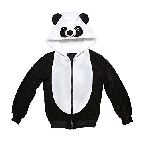 chsenenkostüm Panda, Kapuzenpullover, schwarz, Größe S / M (Bär Happy Halloween)