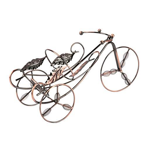 DaoRier Weinflaschenhalter Metall Retro Bronze Fahrrad Eisen Kunst Flaschenkörbe Wein Ständer für Bars Cafés Weinschränke Dekoration Size 35 * 12 * 16.5cm