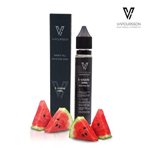 Vape Unkraut (Vapoursson 30ml Wassermelone 0mg E-Flüssigkeit | Shortfill Nikotinfreie Flaschen | 50/50 PG / VG - Starke echte Aromen | Für E-Shisha und E-Zigaretten)
