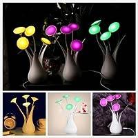 creativo LED sensore di illuminazione automatica vaso usb di figura lampada da tavolo luce di notte