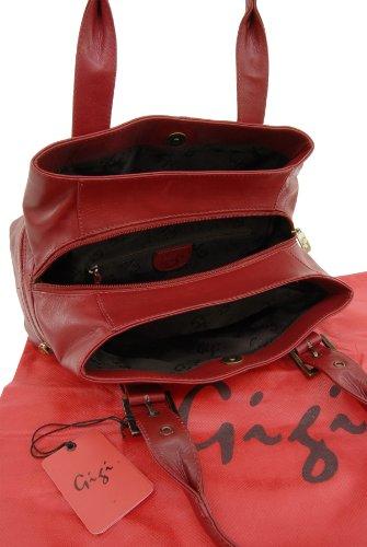 """Handtasche Leder """"Othello"""" von Gigi - GRÖßE: B: 30,5 cm, H: 17,5 cm, T: 13,5 cm Rot"""