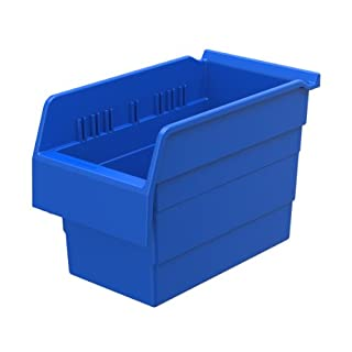 akro-mils 30860shelfmax 8Kunststoff Mülleimer Box Regal Nistkasten, 12Zoll x 15,2cm x 20,3cm, Blau, 10er Pack