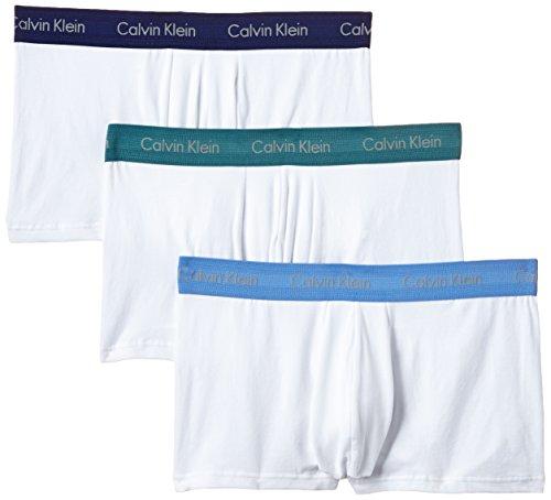 Calvin Klein Herren Boxershorts Cotton Stretch-3-Pack Trunk, 3 Mehrfarbig (W - UM/KR/CG WUC)
