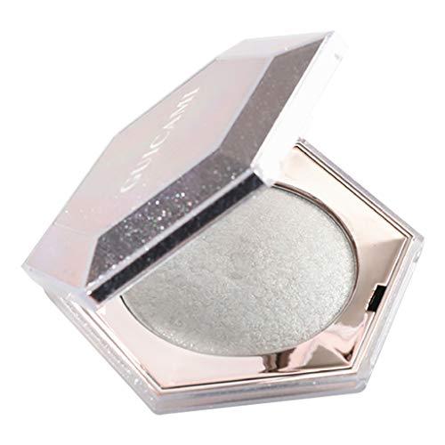 Transwen Gebackener Augen Schatten Puder Make-Up Paletten Schimmer Metallische Augenschminke Palette Make Up Face Glow (Weiß) ()
