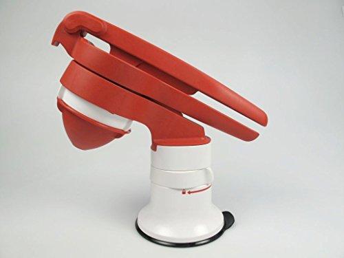 TUPPERWARE Chef Saftpresse rot-weiß mit Standfuß Chef Saft Presse