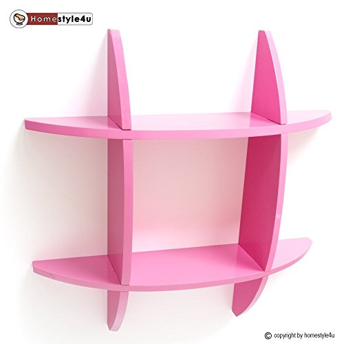 Homestyle4u Wandregal Cube Wandboard Retro Regal Bücherregal pink Regale