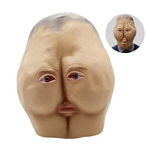 Lustige Gesichtsmasken Adult Dance Horror Kopf Brötchen Party Dekoration Lustige Vollgesichtsmaske Scary Dekorative Geschenk (Masken Beängstigend Adult)