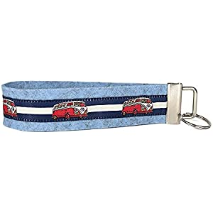 Schlüsselanhänger - Schlüsselband aus Wollfilz