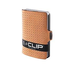 I-CLIP ® Portafoglio AdvantageR Caramello, Gunmetal-Black (Disponibile In 6 Versioni)