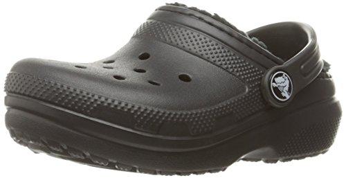 Crocs - Klassisch Gefüttert Clog (Kleinkind / Kleinkind), EUR: 23-24, Black/Black (Jungen Crocs Kleinkind)