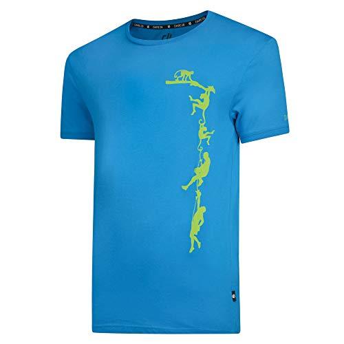 Dare 2b Herren Alarm Cotton Ribbed Cuff Graphic Print T-Shirt, Atlantic Blue, L -