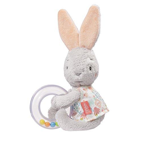 (Fehn 062069 Rasselring Hase   Greifling zum Rasseln, Fühlen, Spielen mit kuschelweichem Stoff-Hasen, mit bunten Rasselperlen   Für Babys und Kleinkinder ab 0+ Monaten)