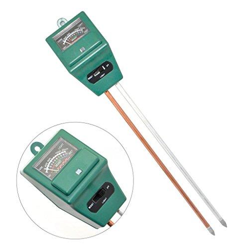 wuzmei suolo Umidità Sensore luce metro PH Acidità Tester 3in1idroponica