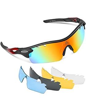 HODGSON polarizadas Deportes Gafas de sol con lentes multifunción para hombres mujeres ciclismo running de béisbol...