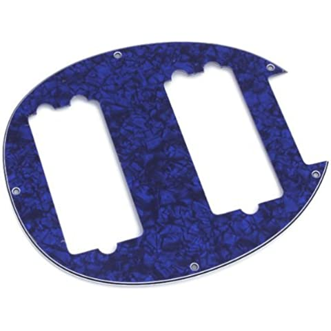 DN Azul Pearloid 3Ply baja de cadena 5 Humbucker scratchplate