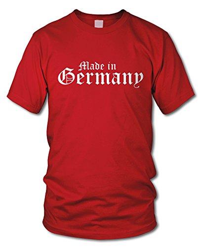 shirtloge - MADE IN GERMANY - FUN T-Shirt - KULT - in verschiedenen Farben - Größe S - XXL Rot (Weiß)