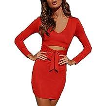 Vestido de Cadera Mujer ,BBestseller Mujer Vestido Blusa de Solapa Casual para Mujer Vestido Largo