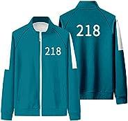 Men's Trendy Leisure Sweatshirt 2021 Korea Movie Squid Game Merch Jogging Jumper Insipred Round Six 001/21