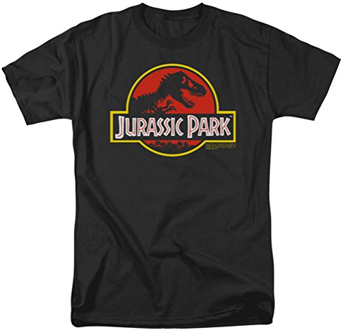 Jurassic Park-T-shirt con logo classico da uomo Black Large