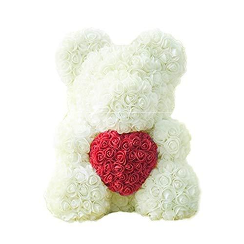 4 Bar Geschenk Seife (Lazder Simulationsseife mit Rosenblüten, Cartoon-Bär-Duft, Seife, Papier, kreatives Geschenk für Neujahr, Valentinstag, 4, M)