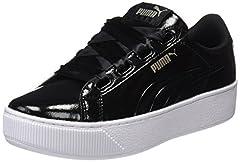 Idea Regalo - Puma Vikky Platform Ribbon P, Scarpe da Ginnastica Basse Donna, Nero Black Black, 38 EU