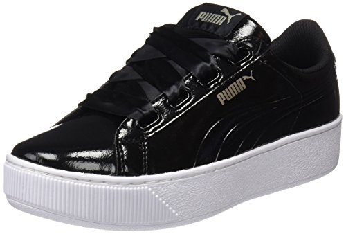 Puma Vikky Platform Ribbon P, Scarpe da Ginnastica Basse Donna, Nero Black Black, 37 EU