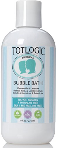 TotLogic Sulfate Free Bubble Bath - 8 fl oz - Gentle & Hypoallergenic - Rich in Antioxidants & Botanicals - No Parabens, No Phthalates, No Sulfates, No DEA & PEG (Original Scent)