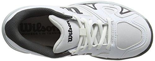 Wilson Rush Pro Jr 2.5 Carpet Wh/Pearl Blue/B 5, Chaussures de Tennis Mixte Enfant Blanc (White/pearl Blue/black)
