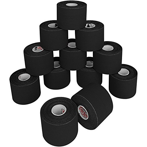 12 Rollen Kinesiologie Tape 5 m x 5,0 cm in verschiedenen Farben, Farbe:schwarz - 2