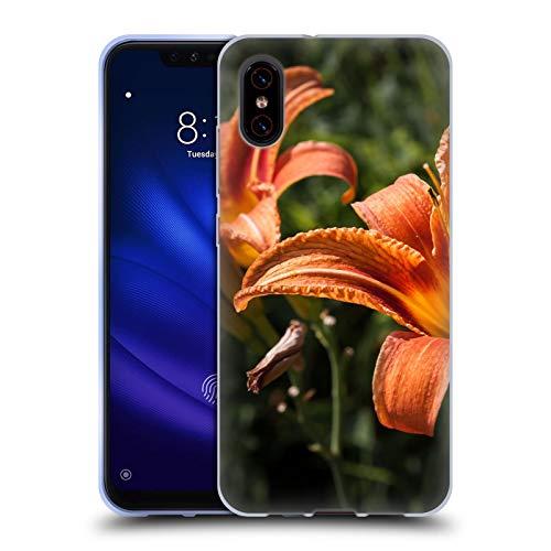 Head Case Designs Offizielle PLdesign Orangen Gelbe Feuer Lilie Blumen Und Blaetter Soft Gel Huelle kompatibel mit Xiaomi Mi 8 Pro -