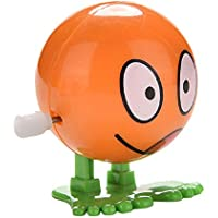 Kalaokei 1Pc Wind up Face Expressions Ball Funny Cartoon Somersault Running Clockwork Toy
