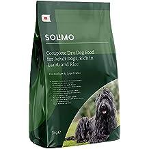 Marca Amazon - Solimo - Alimento seco completo para perro adulto rico en cordero y arroz,  1 Pack de 5 kg