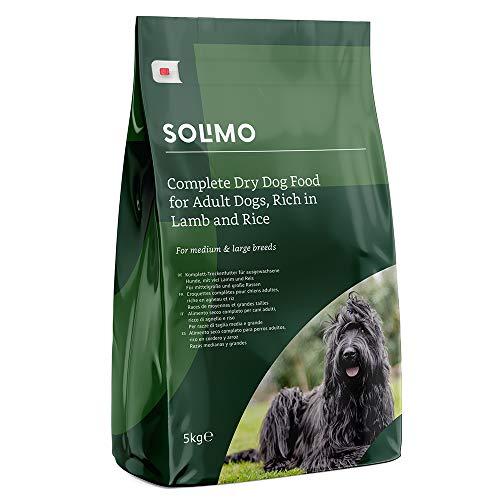 Amazon-Marke: Solimo Komplett-Trockenfutter für ausgewachsene Hunde (Adult) mit viel Lamm und Reis, 2er Pack (2 x 5 kg)