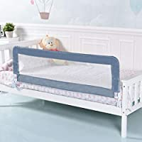 Costway Bed Rail Folding Safety Infant Toddler Kids Protection Guard 150CM (Grey)