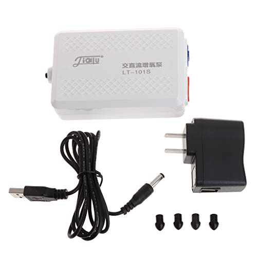 SHINAN Pompa di Ossigeno Acquario Pompa d'Aria Compressore USB Ricaricabile Portatile per Esterni US Plug 100-240V Acquario Forniture di Emergenza