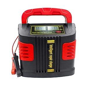 Huihuiya Cargador portátil Inteligente Coche del vehículo Vehículo de Motor 350W 14A Ajuste del Coche LCD Cargador de batería Coche Salto Arrancador Booster-Rojo y Negro