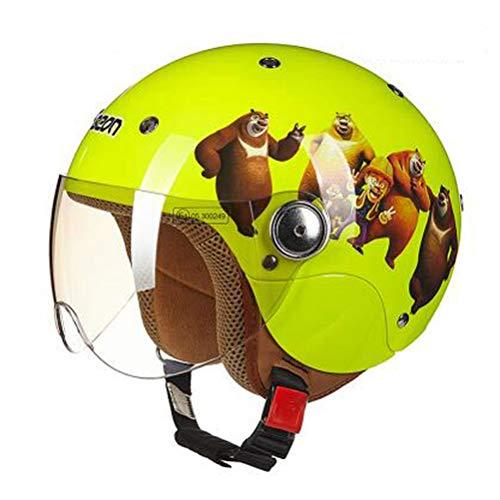 Bambini cartone animato moto casco maglia di cotone fodera elettrica bike bambino sicurezza tappi anti caduta conforto straibile Scooter Motorbike Casco univers
