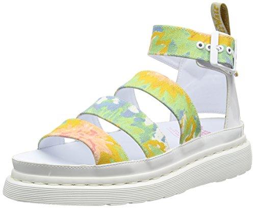 Dr. Martens 22076001, Sandali con Cinturino alla Caviglia Donna Multicolore (Multi/white Mandala Td Fine Canvas)