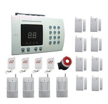 FDL MobileFDL wireless Intruder Burglar House Security Alarm System LCD Display Wireless PSTN Home Security Alarm System 99 Zones
