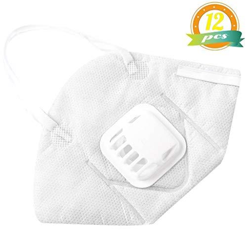 KLVOE Masque Anti-poussière - Masque en Coton respiratoire N95...