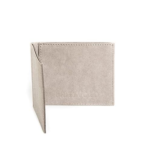 Kleiner dünner Geldbeutel Herren mit Münzfach von FRITZVOLD - Kleine Geldbörse, Slim Wallet, extrem flaches Portmonee in grau für Damen und