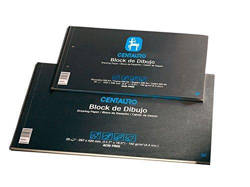 Unipapel bloc de dibujo senator. 20 hojas. formato folio prolongado. recuadro. 150 gramos.