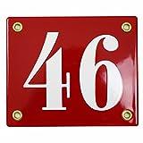 Hausnummer Hausnummernschild Emaille 10x12 cm mit Wunschnummer Premiumqualität