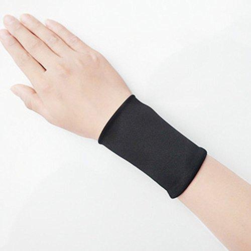GVFDNTFRF Sommer Spitze Handgelenk handgelenk Abdeckung weiblichen Abdeckung Narbe tattoo Arm sleeve Langarm slim Dekorative fake Hülse, S, 8 cm lang schwarz