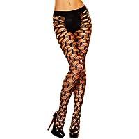 Lap Dance, Women's Hard-Core Net Pantyhose, One Size, Black