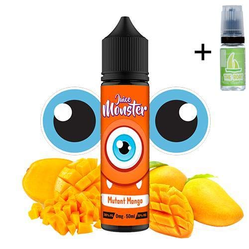 E Liquid Juice Monster Mutant Mango 50ml - 70 vg 30 pg - Nicotine free + Liquid The Boat 10ml Zitrone und Limette - Nicotine free